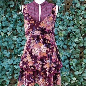Free People velvet & lace dress size 8